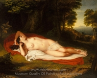 Ariadne painting reproduction, Asher Brown Durand