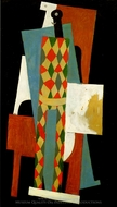 Arlequin painting reproduction, Pablo Picasso (inspired by)