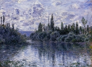 Arm of the Seine near Vetheuil painting reproduction, Claude Monet