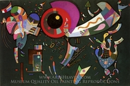 Around the Circle painting reproduction, Wassily Kandinsky