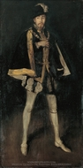 Arrangement in Black, No. 3: Sir Henry Irving as Philip II of Spain painting reproduction, James McNeill Whistler