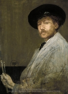 Arrangement in Gray, Portrait of the Painter painting reproduction, James McNeill Whistler