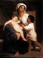 Asleep at Last (Le sommeil) painting reproduction, William A. Bouguereau