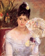At the Ball painting reproduction, Berthe Morisot