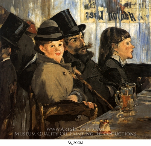 Edouard Manet, At the Cafe oil painting reproduction