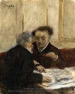 At the Cafe, Cheteaudun painting reproduction, Edgar Degas