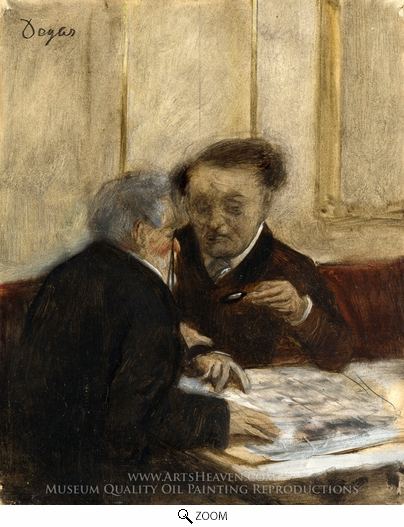 Edgar Degas, At the Cafe, Cheteaudun oil painting reproduction