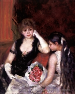 At the Concert (Box at the Opera) painting reproduction, Pierre-Auguste Renoir