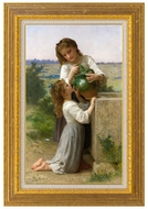 At the Fountain (A la Fontaine) painting reproduction, William A. Bouguereau
