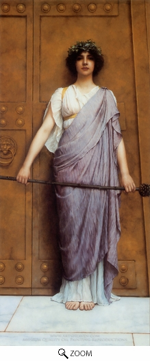 John William Godward, At the Gate of the Temple oil painting reproduction