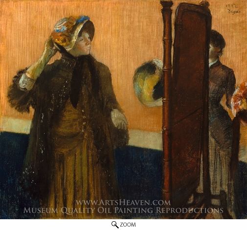 Edgar Degas, At the Milliner's oil painting reproduction