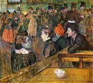 At the Moulin de la Galette painting reproduction, Henri De Toulouse-Lautrec