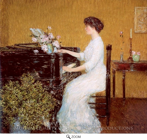 Childe Hassam, At the Piano oil painting reproduction