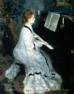 At the Piano painting reproduction, Pierre-Auguste Renoir
