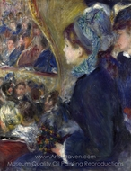 At the Theatre (La Premiere Sortie) painting reproduction, Pierre-Auguste Renoir