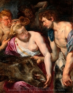 Atalanta and Meleager painting reproduction, Peter Paul Rubens
