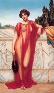 Athenais 1908 painting reproduction, John William Godward