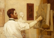 Augustus Saint-Gaudens painting reproduction, Kenyon Cox