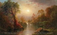 Autumn painting reproduction, Frederic Edwin Church