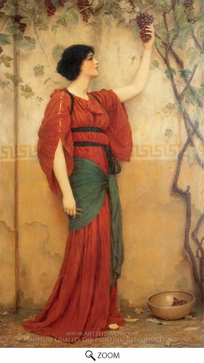 John William Godward, Autumn oil painting reproduction