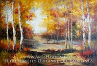 Autumn Colors in the Forest painting reproduction, Various Artist
