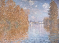 Autumn Effect at Argenteuil painting reproduction, Claude Monet