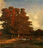 Autumn Landscape painting reproduction, Julien Dupre