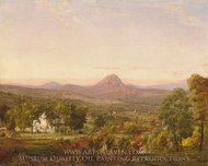 Autumn Landscape, Sugar Loaf Mountain, Orange County, New York painting reproduction, Jasper Francis Cropsey