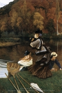 Autumn on the Thames painting reproduction, James Tissot