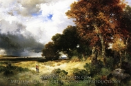 Autumn, Peconic Bay, Long Island painting reproduction, Thomas Moran