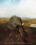 Autumn Study, View over Hanging Rock, Newport, R.I. painting reproduction, John La Farge