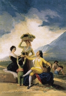Autumn: The Grape Harvest painting reproduction, Francisco De Goya