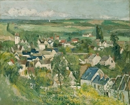 Auvers sur Oise painting reproduction, Paul Cézanne