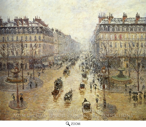 Camille Pissarro, Avenue de l'Opera: Snow Effect oil painting reproduction