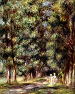 Avenue through the Undergrowth painting reproduction, Pierre-Auguste Renoir