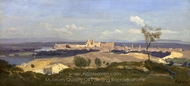Avignon from the West painting reproduction, Jean-Baptiste Camille Corot