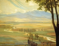Avila Morning (The Ambles Valley) painting reproduction, Diego Rivera