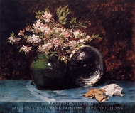 Azaleas painting reproduction, William Merritt Chase