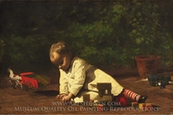 Baby at Play painting reproduction, Thomas Eakins