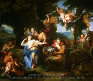 Bacchus and Ariadne on the Isle of Naxos painting reproduction, Charles Antoine Coypel