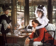 Bad News painting reproduction, James Tissot
