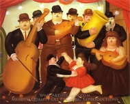 Dancing in Colombia painting reproduction, Fernando Botero