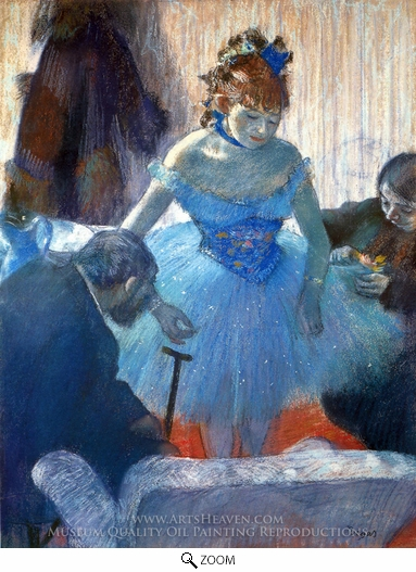 Edgar Degas, Ballerina Changing oil painting reproduction