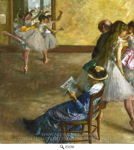 Edgar Degas, Ballet Class oil painting reproduction