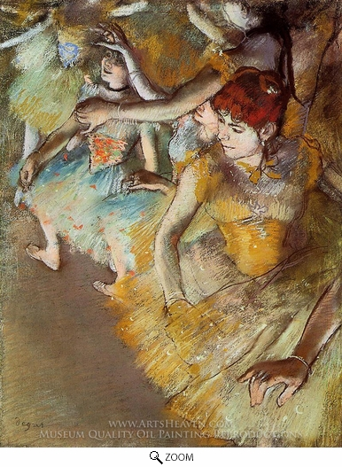 Edgar Degas, Ballet Dancers on the Stage oil painting reproduction