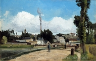 Banks of the Oise at Pontoise painting reproduction, Camille Pissarro