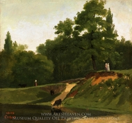 Banks of the Stream near the Corot Property, Ville d'Avray painting reproduction, Jean-Baptiste Camille Corot