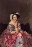 Baronne James de Rothschild painting reproduction, Jean Auguste Dominique Ingres
