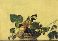 Basket of Fruit painting reproduction, Caravaggio