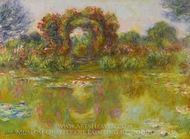 Bassin aux Nympheas, les Rosiers painting reproduction, Claude Monet